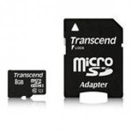 TRANSCEND 8GB microSDHC Class 10 UHS-I 400x (Premium)