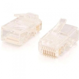 RJ45 Cat5 Mod Plug Cbl 100pk
