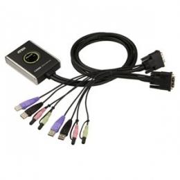 2 Port DVI-D cable KVM [Item Discontinued]