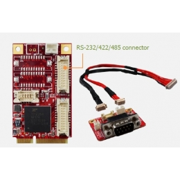 mPCIe to four RS-232/422/485 Module