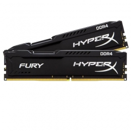 KINGSTON 8GB 2133MHZ DDR4 NON-ECC CL14 DIMM (KIT OF 2)HYPERX FURY BLACK SERIES [Item Discontinued]