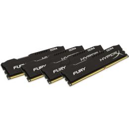 KINGSTON 16GB 2666MHZ DDR4 NON-ECC CL15 DIMM (KIT OF 4)HYPERX FURY BLACK SERIES