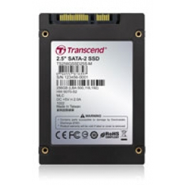 Transcend 256GB 2.5 inch SSD w SATA interface and MLC Flash chip + DRAM
