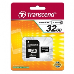 32GB MICRO SDHC WITH ADAPTER (CLASS 4) [Item Discontinued]