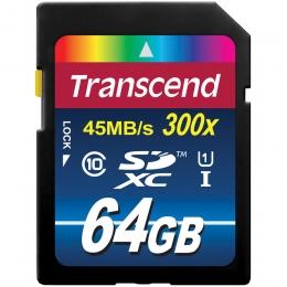 TRANSCEND 64GB SDHC Class 10 UHS-I 300x (Premium)