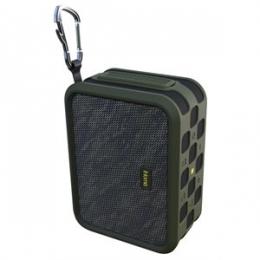 IHOME RUGGED PORT. WATERPROOF BLUETOOTH STEREO SPEAKER W/ SPEAKERPHONE. NFC & USB CHARGING MILITARY