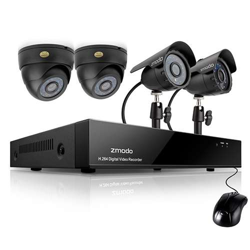 KHA4-CARQA22N // Zmodo Surveillance KHA4-CARQA22N 4Channel