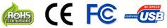 Custom USB logo Promo ROHS CE FC