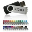 Swivel USB Drive - 512MB - with 1 Colour Logo
