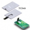 Business Card USB key - 512MB - with 1 Colour Logo