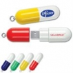 Pill Capsule USB Key - 2GB - with 1 Colour Logo