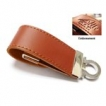 Leather USB Key - 16GB - with 1 Colour Logo
