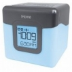IHOME BLUETOOTH COLOR CHANGING DUAL ALARM CLOCK FM RADIO WITH USB CHARGING WHITE