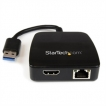 StarTech Network USB31GEHD USB3.0 Gigabit Ethernet NIC with HDMI Mini Docking Adapter Retail