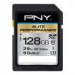 PNY Memory Flash P-SDX128U395-GE 128GB SDHC Cl10 UHS-I U3 95MBs READ Retail