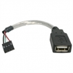 StarTech Cable USBMBADAPT 6inch Cable USB2 A Female to USB Motherboard 4Pin Header Famale/Famale Ret