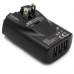 LENMAR AC TO USB WALL CHARGER WITH 4 USB PORTS. BLACK