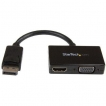 StarTech AC DP2HDVGA Travel A V Adapter 2-in-1 DisplayPort to HDMI or VGA RTL