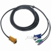 IOGEAR Cable G2L5202PTAA 6Feet Bonded KVM Cable PS/2 VGA for GCS1716 or GCS180 Retail