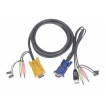 IOGEAR Cable G2L5305U 15feet Micro-Lite Bonded All-in-One USB KVM Cable Retail