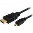 StarTech Cable HDMIADMM6 6feet High Speed HDMI to HDMI Micro Cable with Ethernet Male/Male Retail