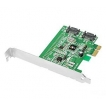 SIIG Controller Card SC-SA0S11-S1 SATA 6Gb s 2Port PCIE Dual Profile Brown