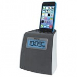 IHOME LIGHTNING CLOCK RADIO FOR IPHONE/IPOD WHITE